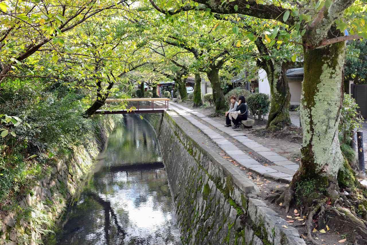 Philosophenweg von Ginkakuji Silberpavillon bis Nanzen-ji Tempel