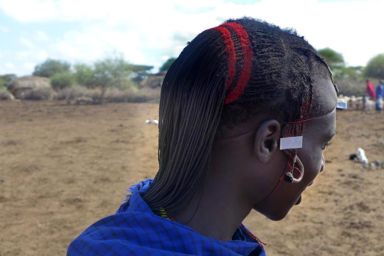 Haartracht der jungen Massai Krieger