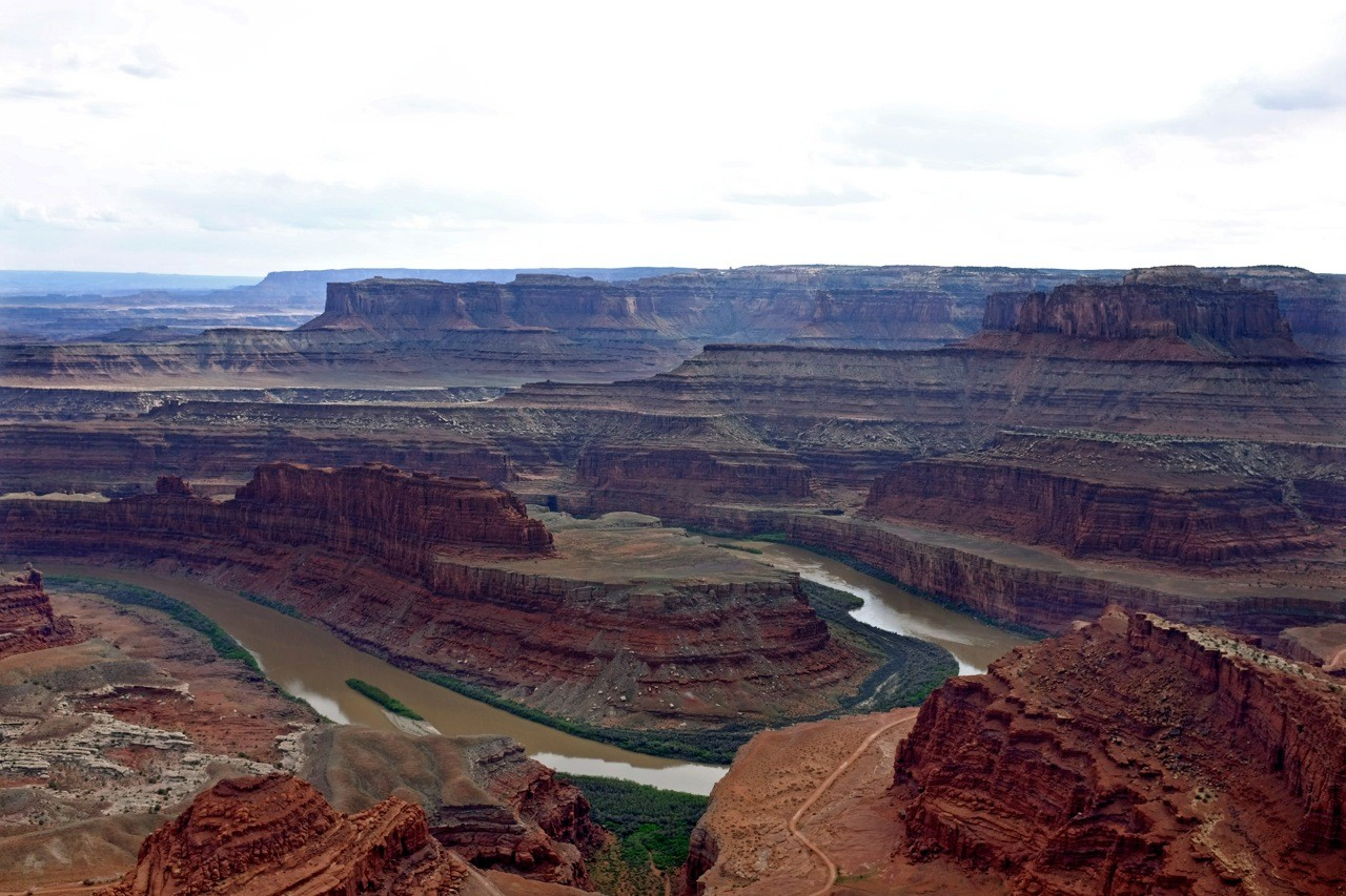 Wanderung Dead Horse Point Overlook Colorado River