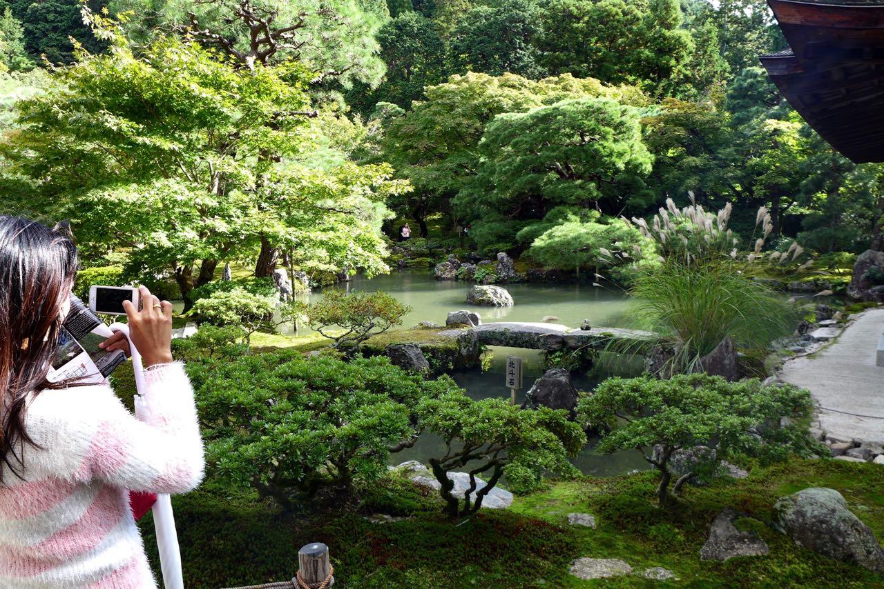 Am Philosophenweg Ginkaku-ji-Tempel Silbener Pavillon