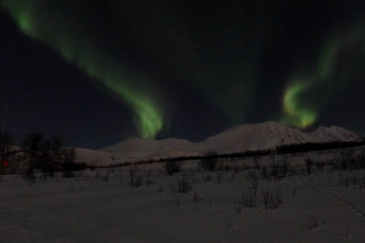 Nordlichter in den Lyngen Alpen