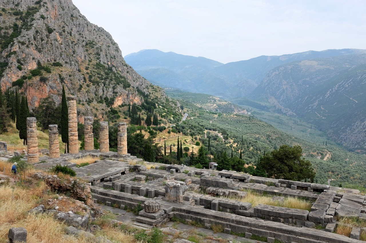 Apollo Tempel in Delphi