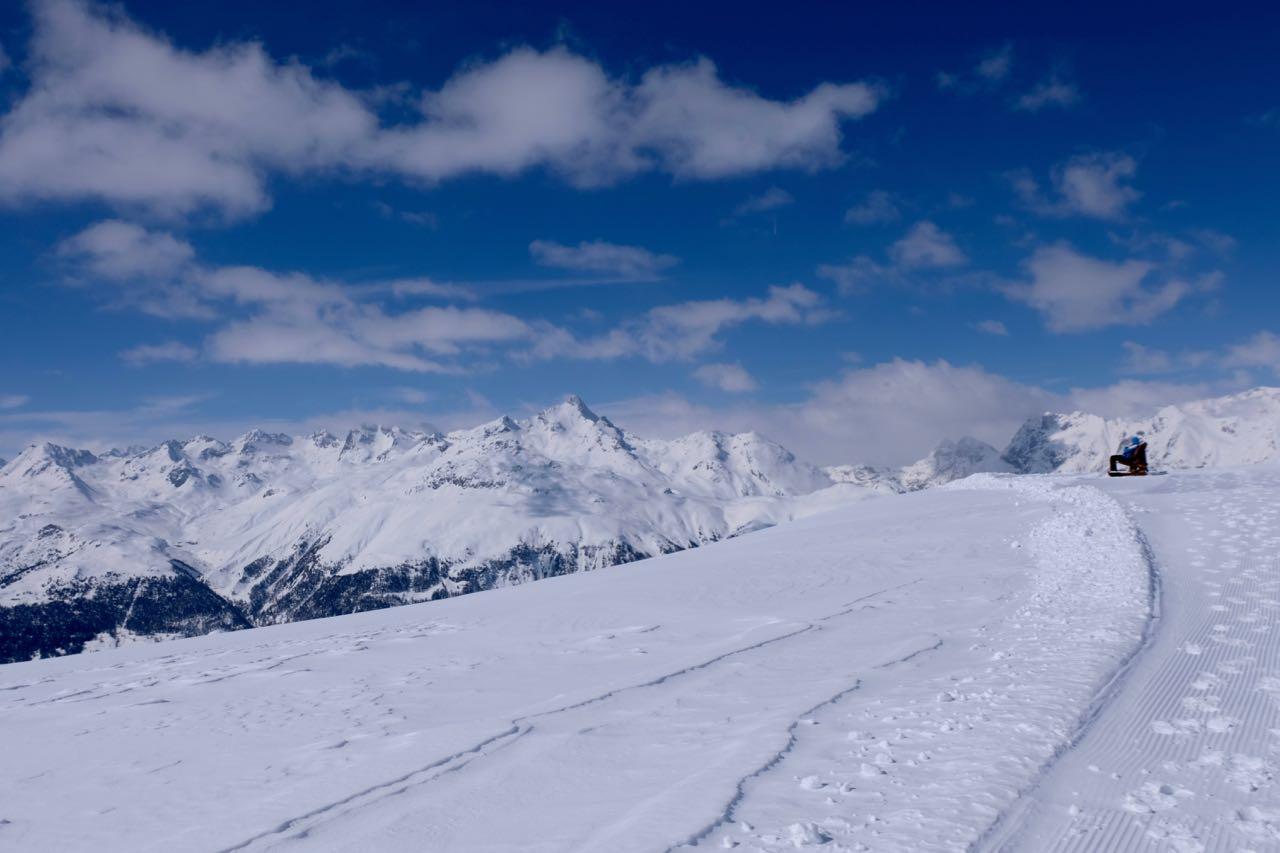Winterwanderwege am Muottas Muragl, St. Moritz Oberengadin