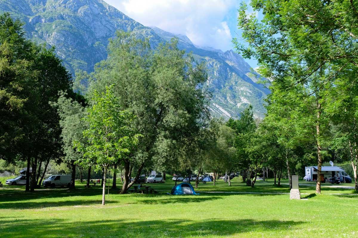 Campingplatz Kamp Klin Soca-Tal
