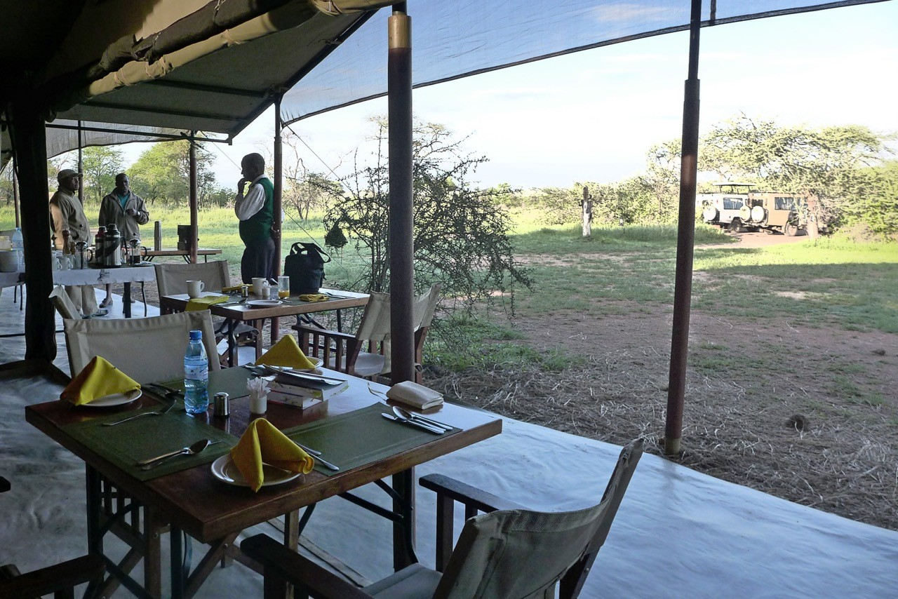 Dining Zelt des Kati Kati Camps