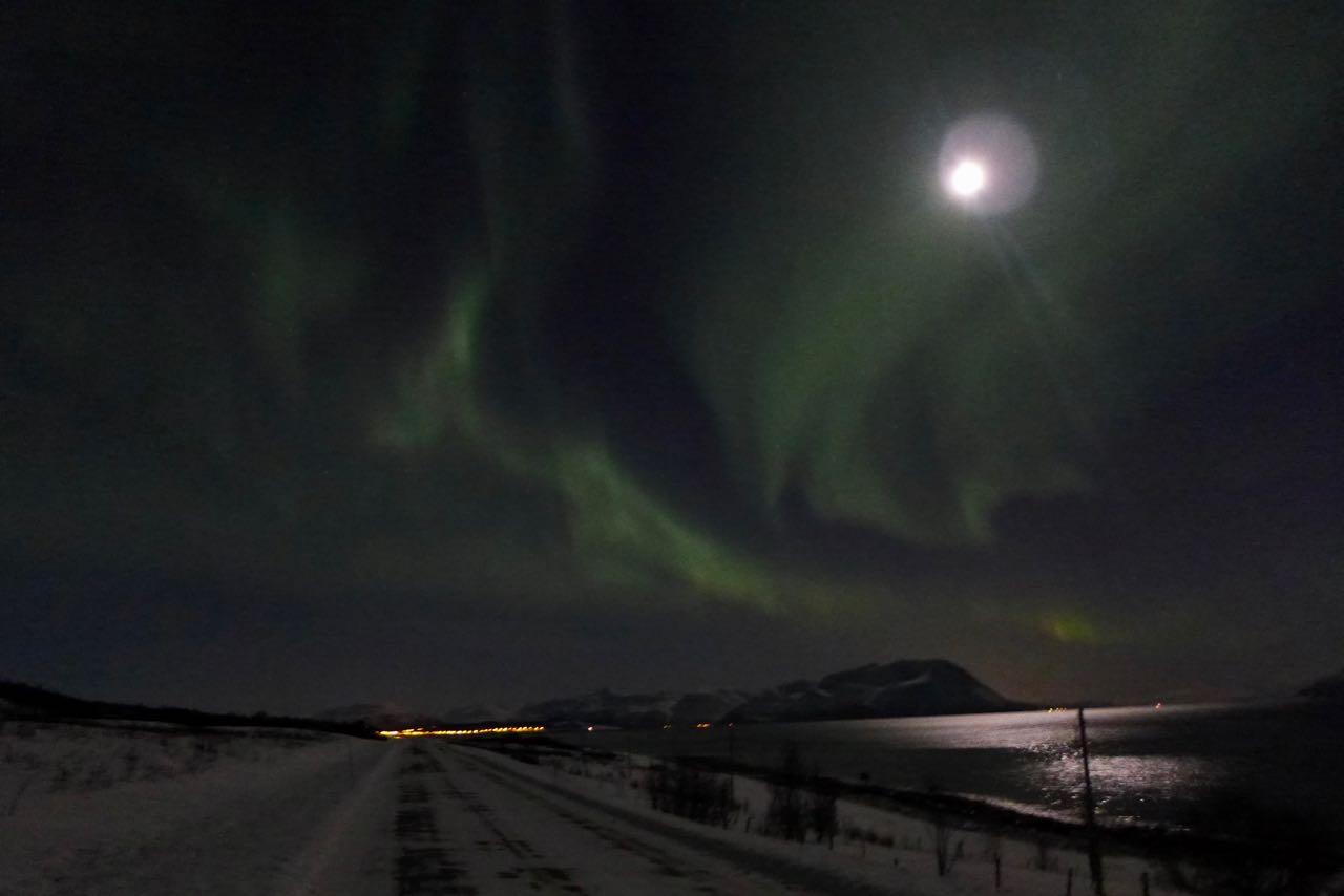 Nordlichter Unterkunft Lyngen Alpen Norwegen