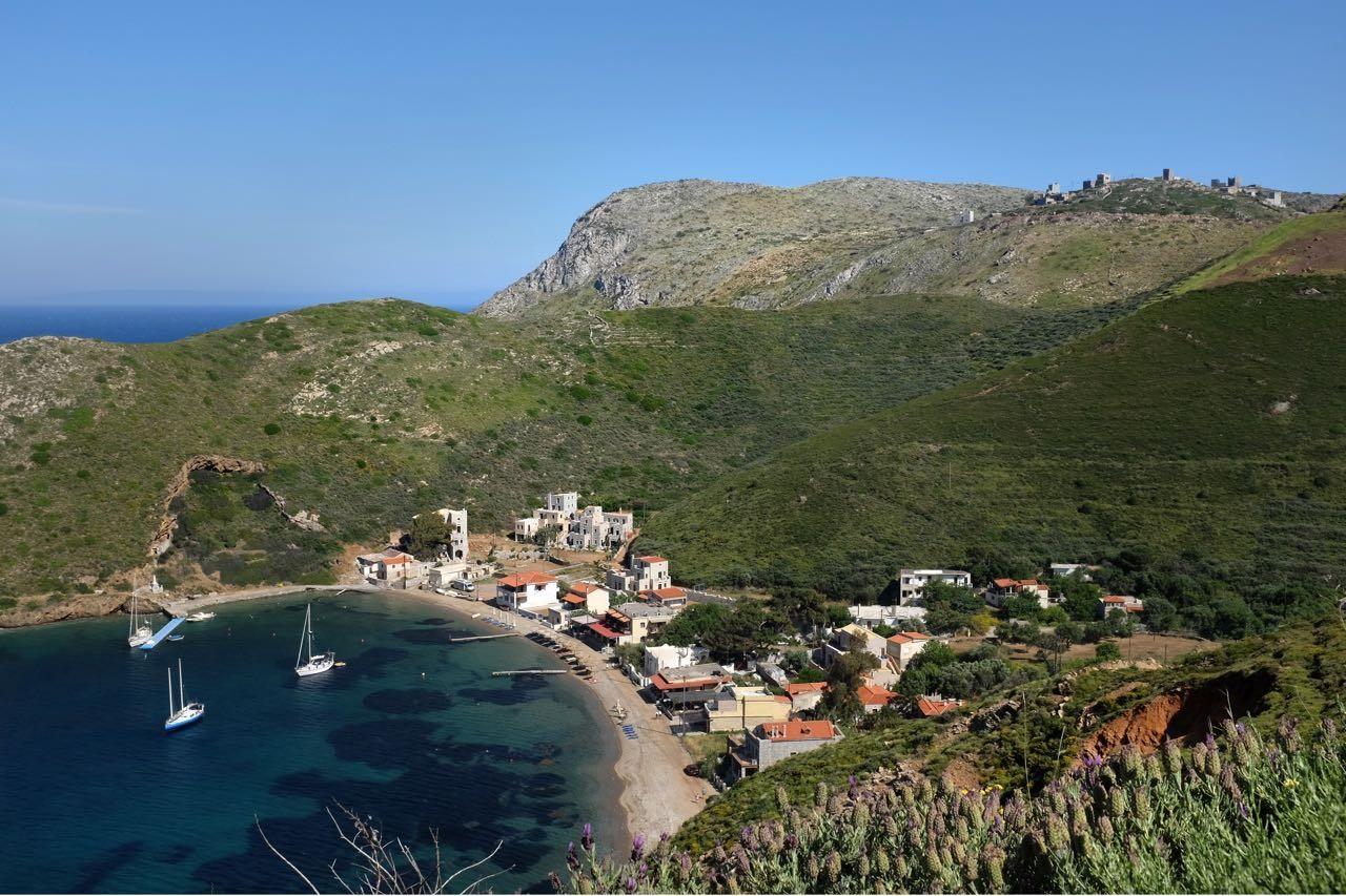 Das kleine Fischerdorf Porto Kagio ganz im Süden der Mani