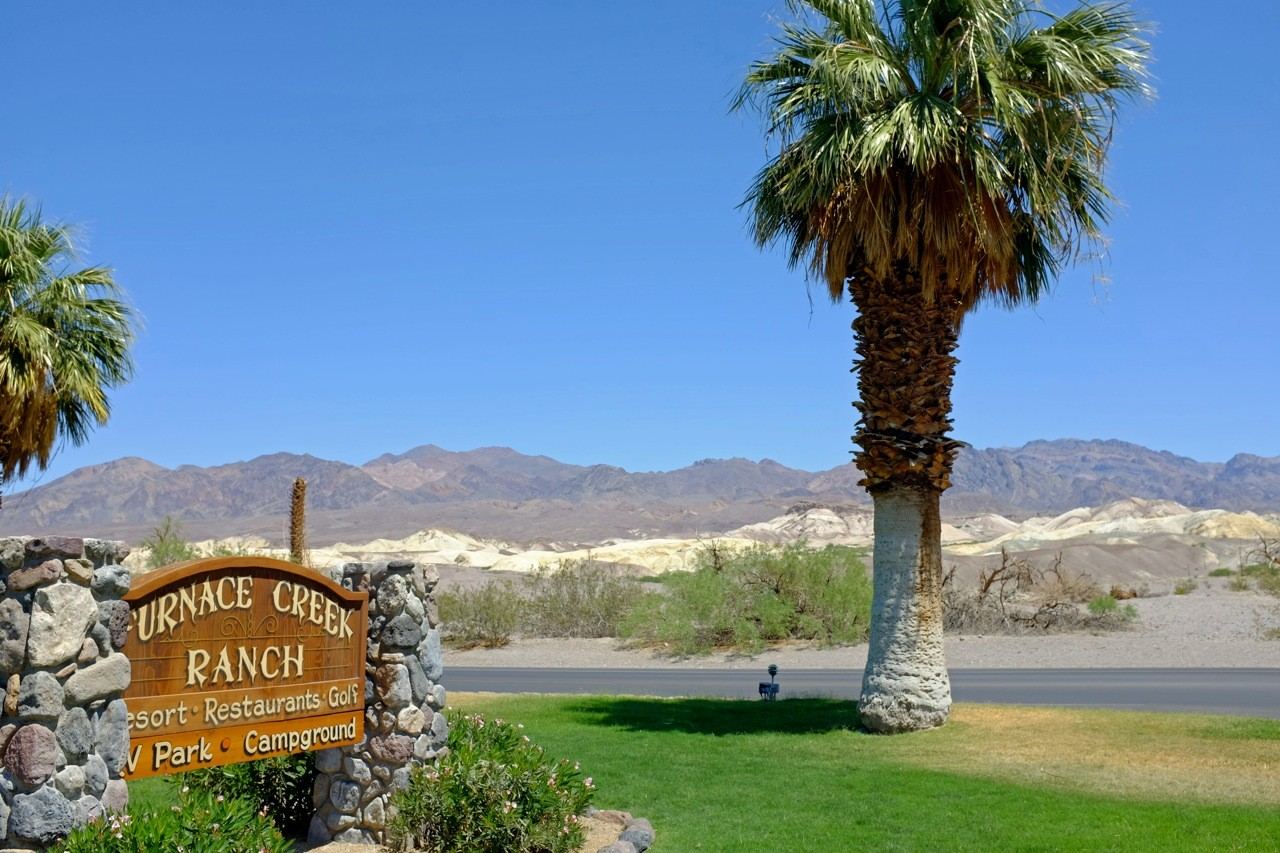 Furnace Creek Ranch Entrance, Death Valley