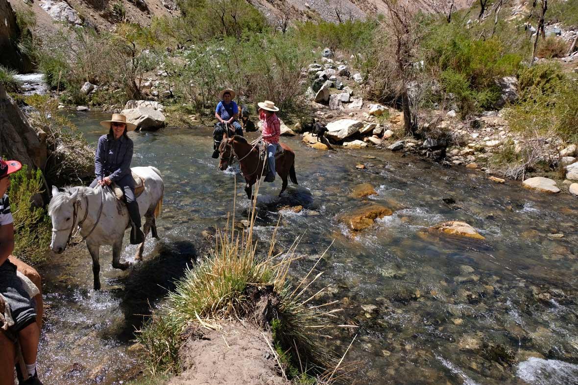 Reitausflug im Cochiguaz Tal Valle Elqui