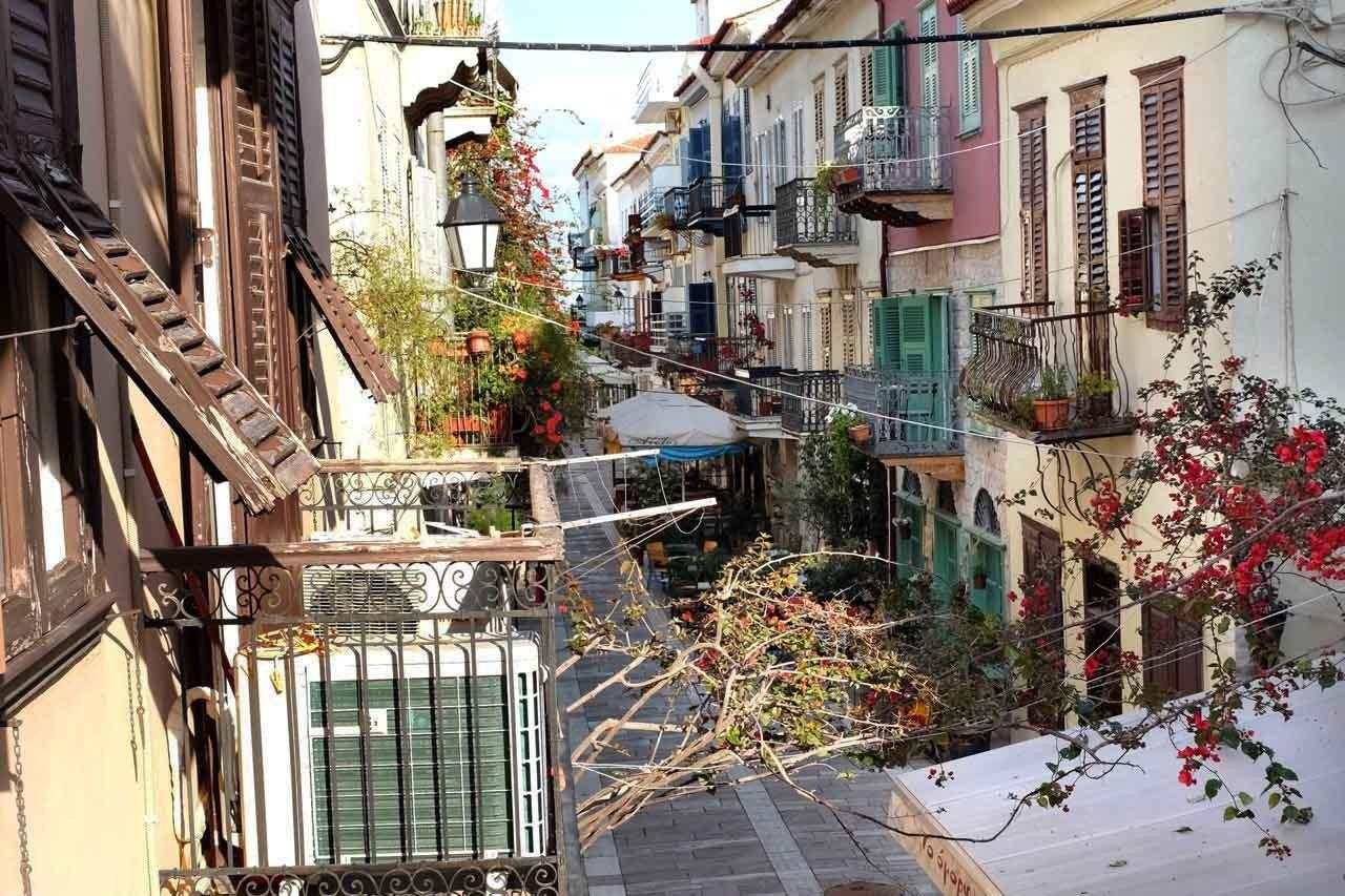 Unser Hotelblick auf Nafplions Altstadt, Peloponnes