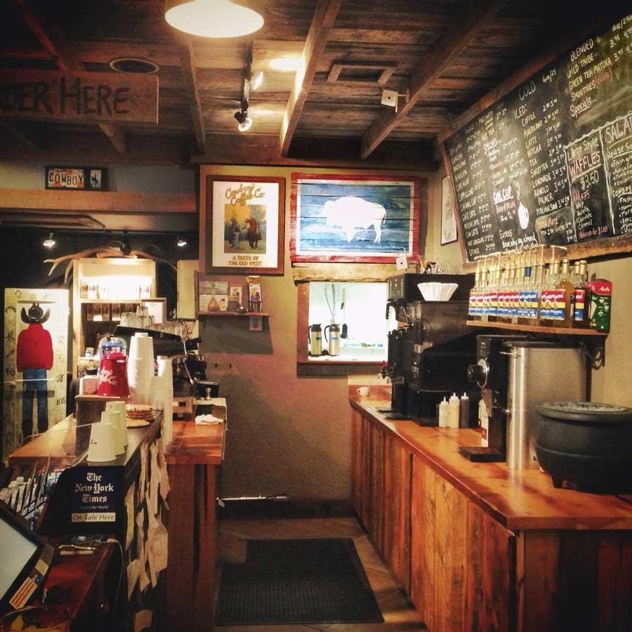 Cowboy Coffee Shop in Jackson Wyoming