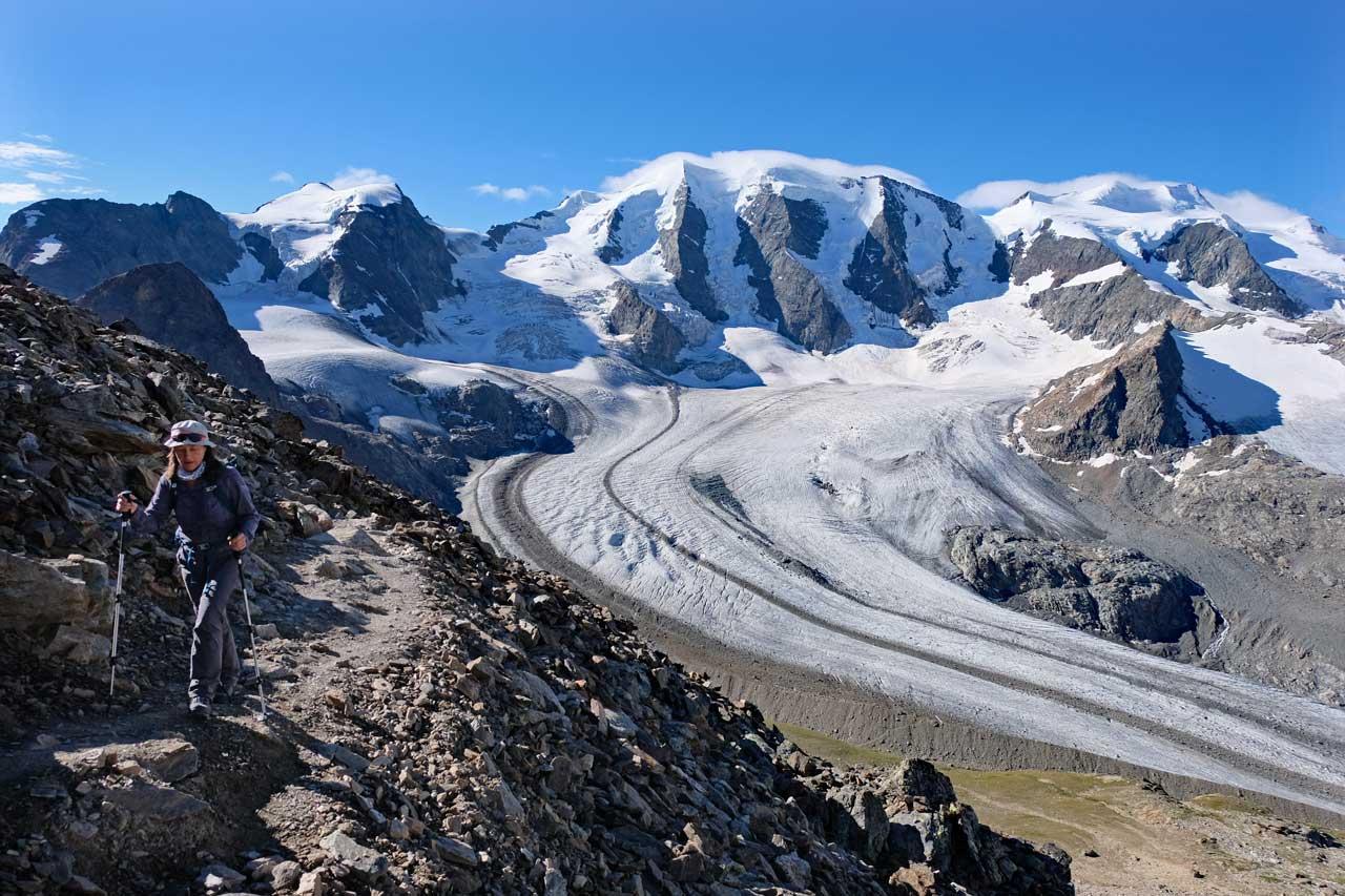 Weg zum Munt Pers, Wanderung Diavolezza Bergstation