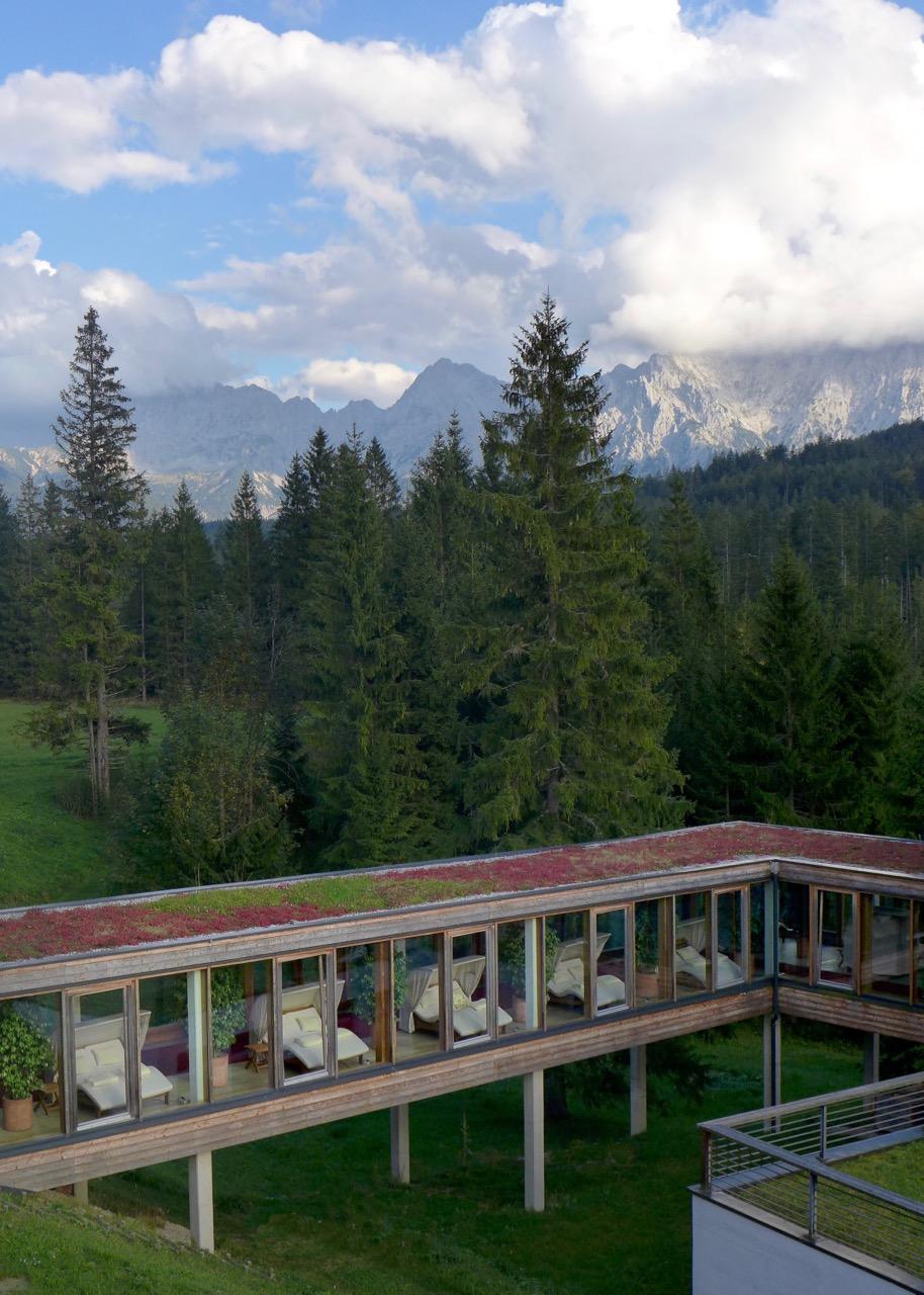 Wunderbare Spa-Betten im Kranzbach Hotel