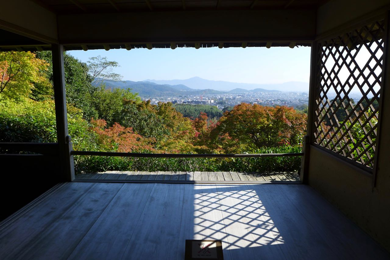 Ausblick von der Okochi Sanso Villa in Arashiyama, Kyoto