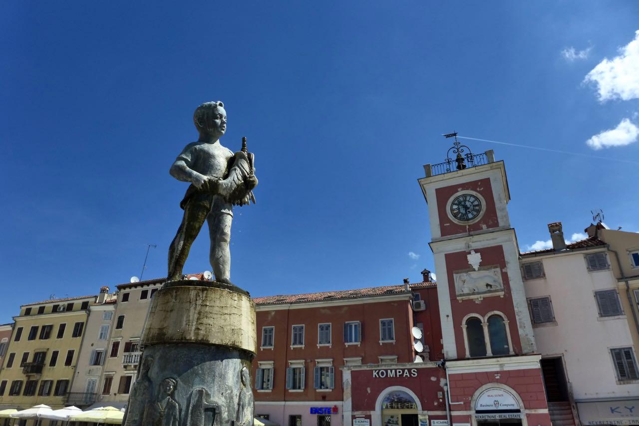 Venezianische Piazza in Rovinj