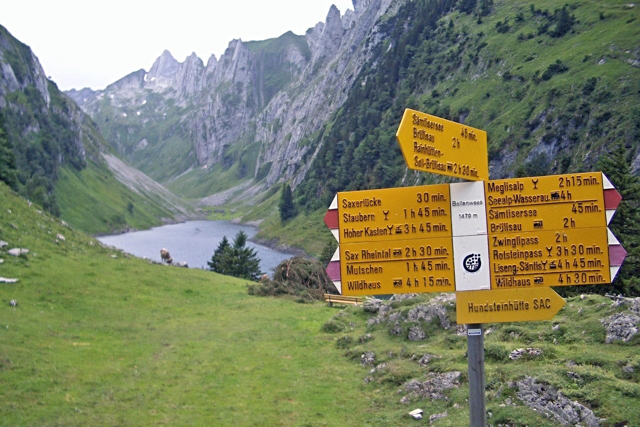 Wanderungen ab Bollenwees, Appenzeller Alpen