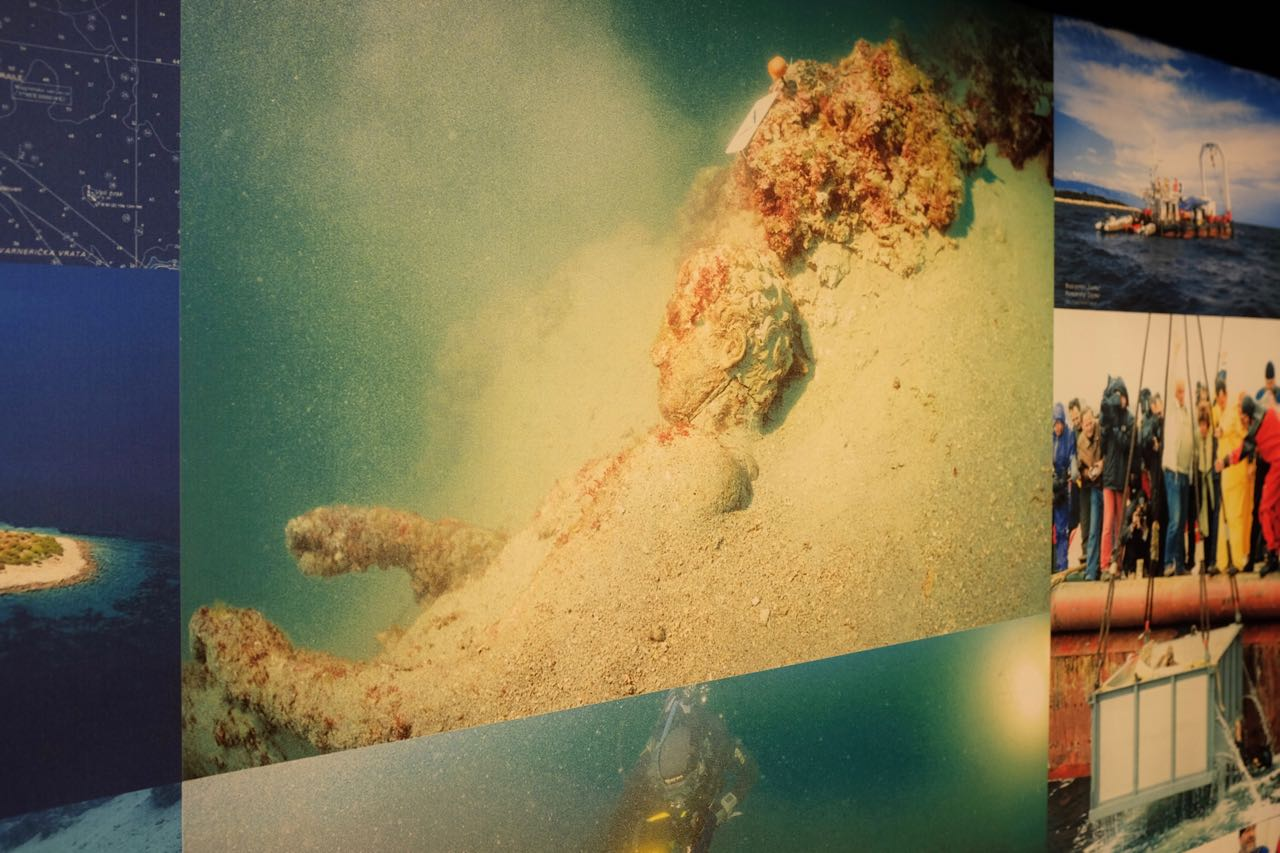 Apoxyomenos auf dem Meeresgrund