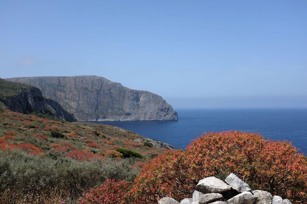 Peloponnes an der blühenden Küste der Mani