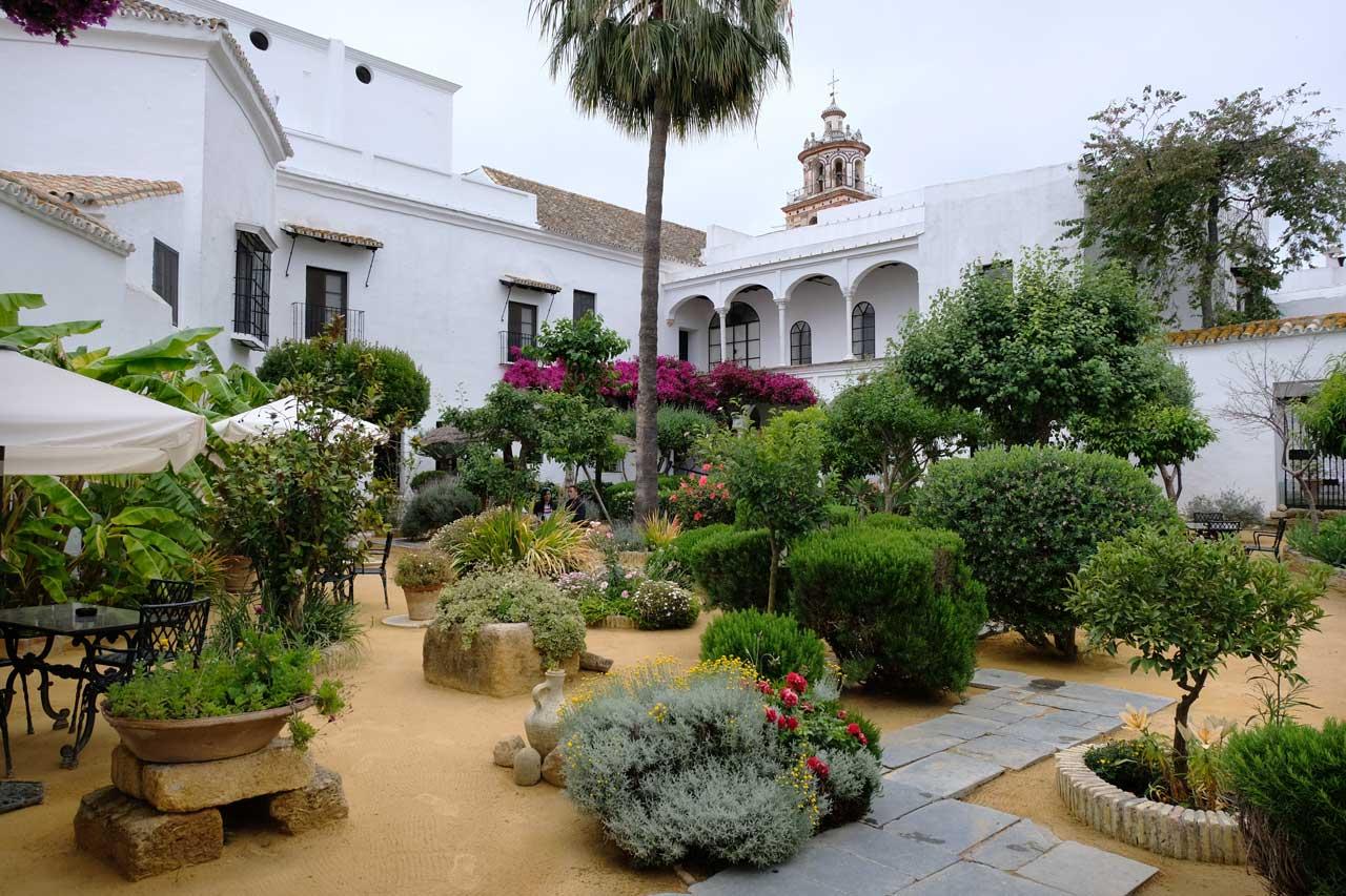 Gartencafe im Palacio de la Duquesa de Medina Sidonia
