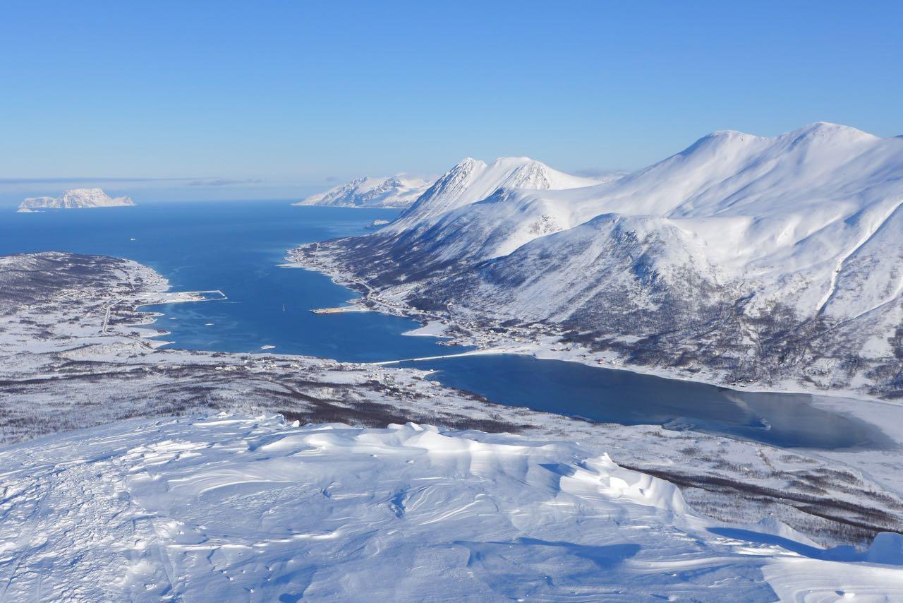 Ausblick über den Nord Lenangen Fjord