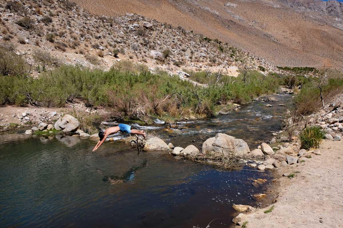 Badestopp beim Ausritt im Cochiguaz Tal