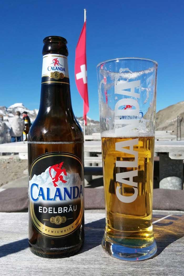 Bier auf der Diavolezza Bergstation