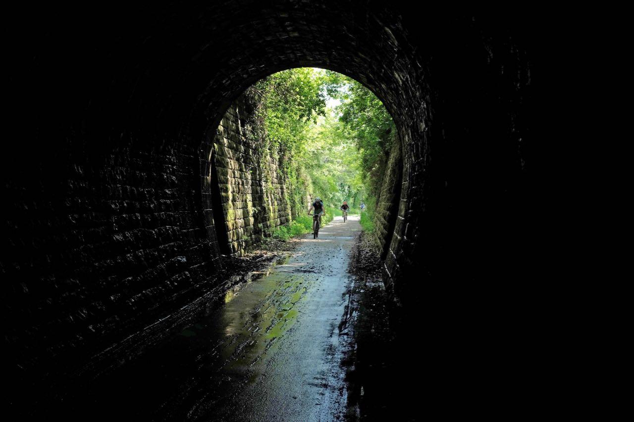 Einer der Parenzana Tunnel bei Grožnjan