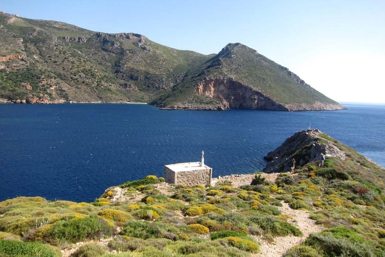 Zimmer mit Aussicht auf die Bucht von Porto Kagio, Mani Peloponnes