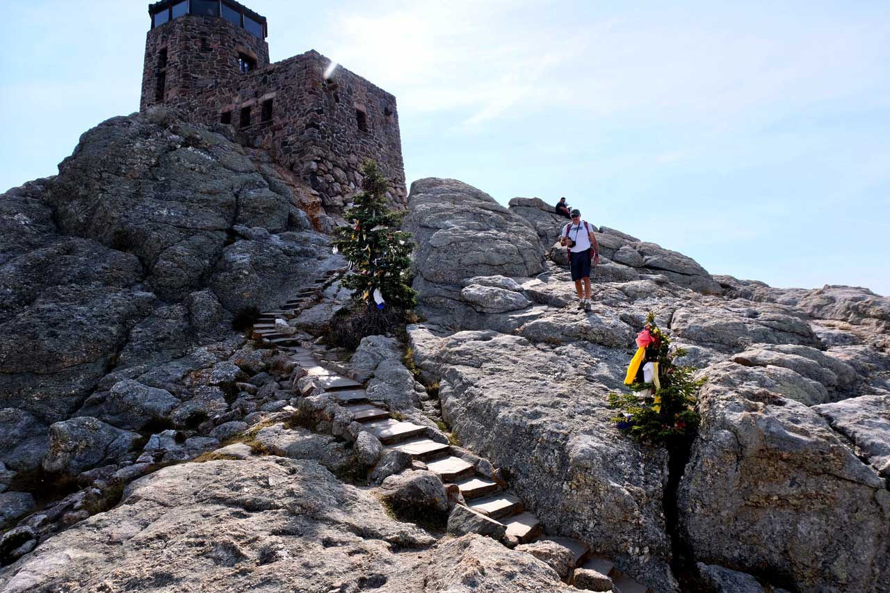 Black Elk Peak letzte Stufen
