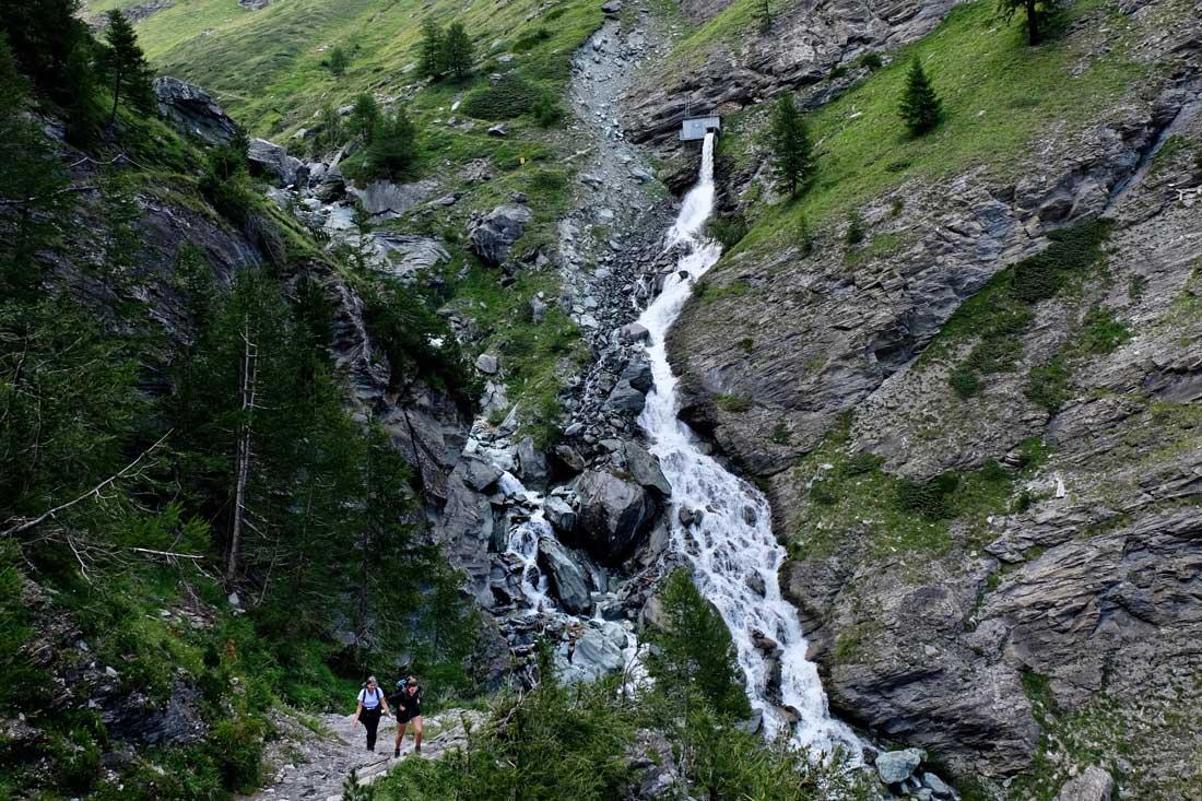Wasserfall Triftbach bei Zermatt