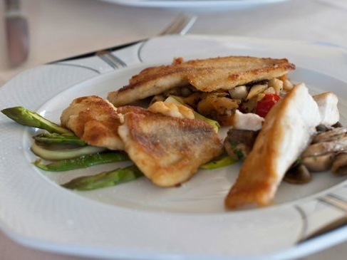 Gardasee Fisch im Alla Fassa Restaurant