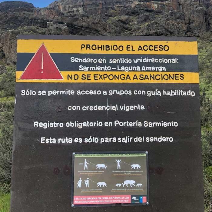 Wanderung Torres del Paine Guardería Lago Sarmiento - Guardería Laguna Amarga