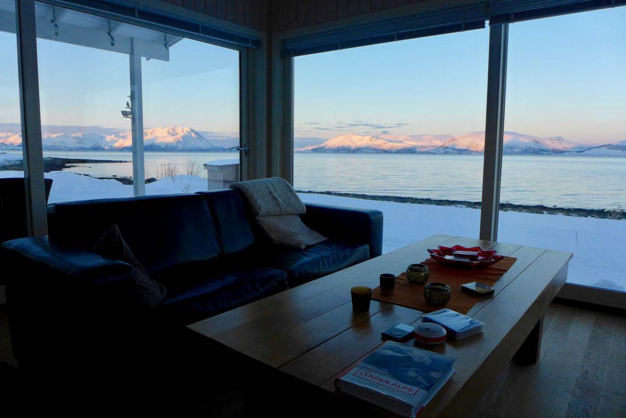 Unsere 'bescheidene' Airbnb Unterkunft, die Lenangen Lodge in Lyngen