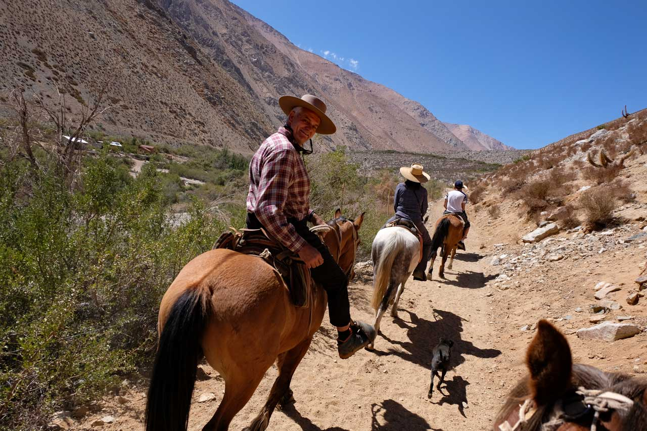 Ausritt im Cochiguaz Tal Valle Elqui