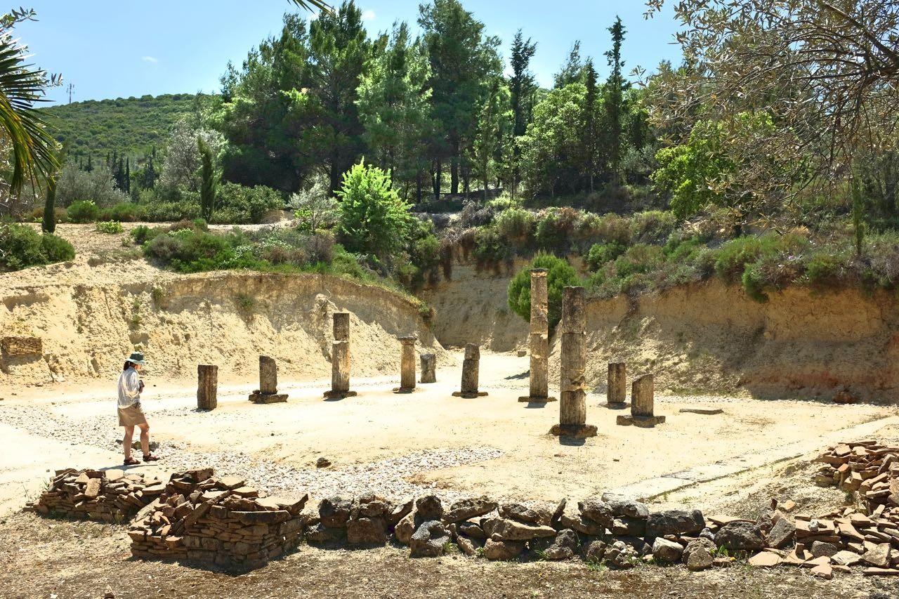 Ehemaliger Umkleideraum der Athleten in Nemea, Peloponnes