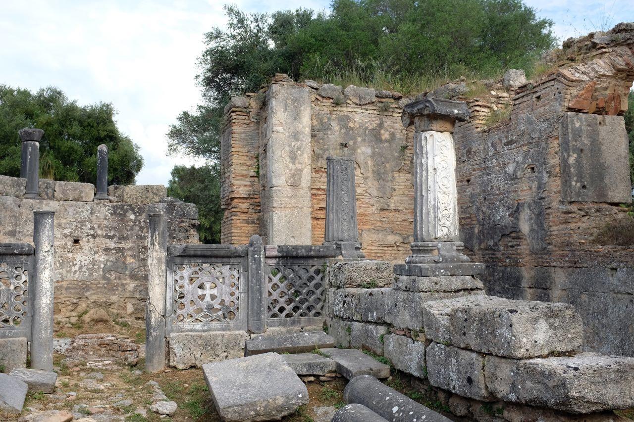 Phidias Bildhauer-Werkstatt in Olympia, Peloponnes