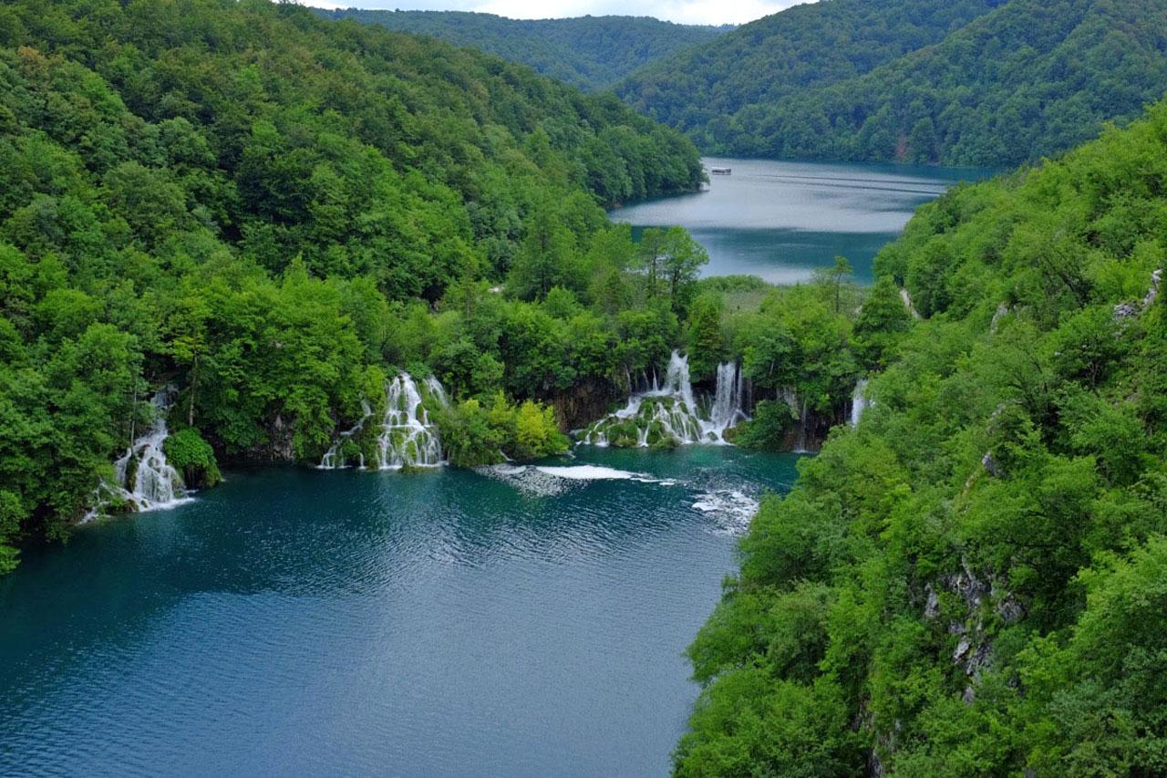 Fallende Seen von Kroatien