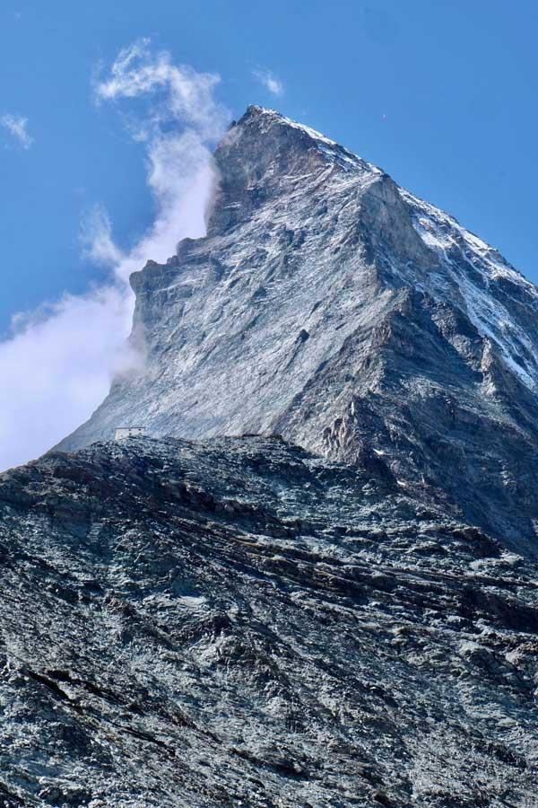 Letzter Aufstieg zur Hörnlihütte am Matterhorn