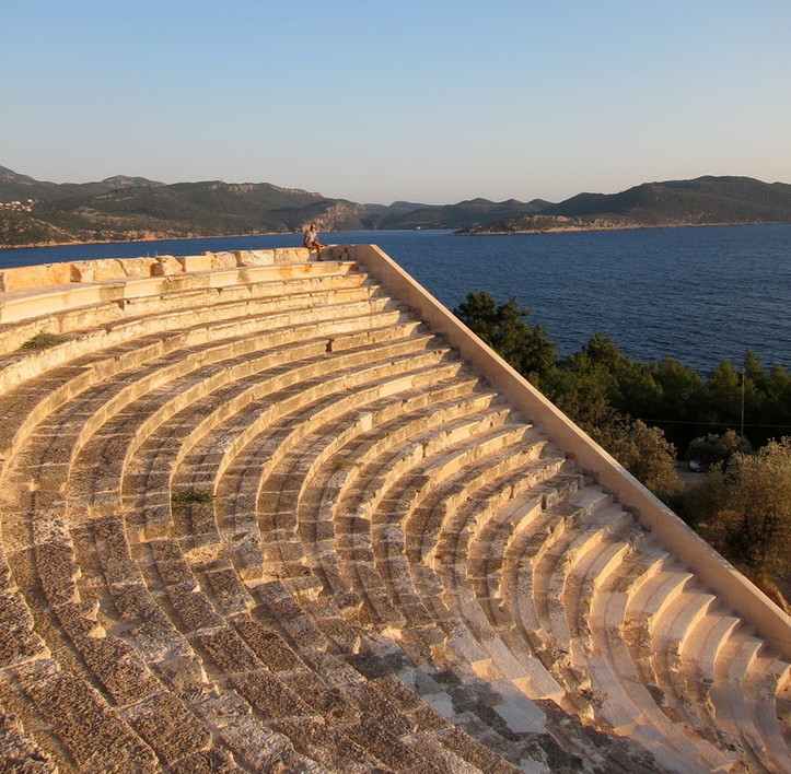 Kas antikes Theater Lykischen Küste Türkei