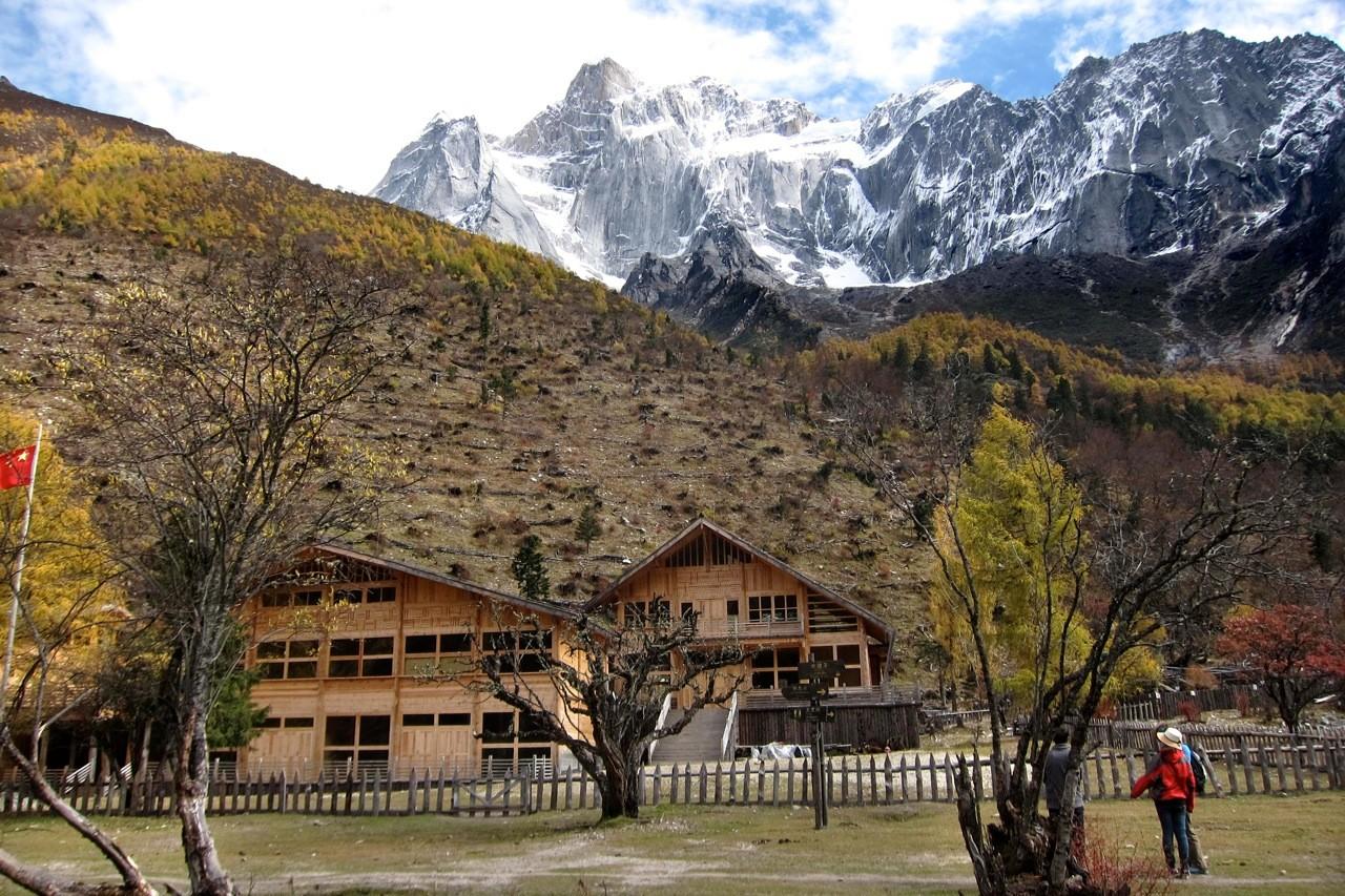 Schutzhütte für Wanderer Changping Valley