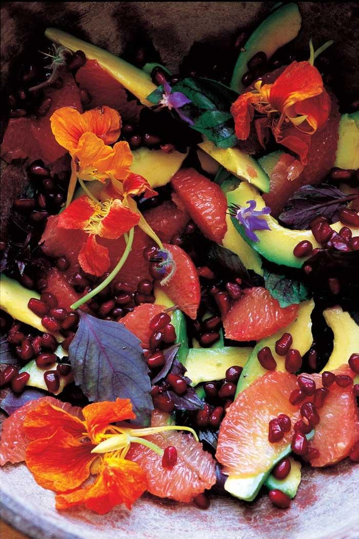 Orientalischer Salat, Kochbuch Granatapfel, Sumach & Zitrusduft