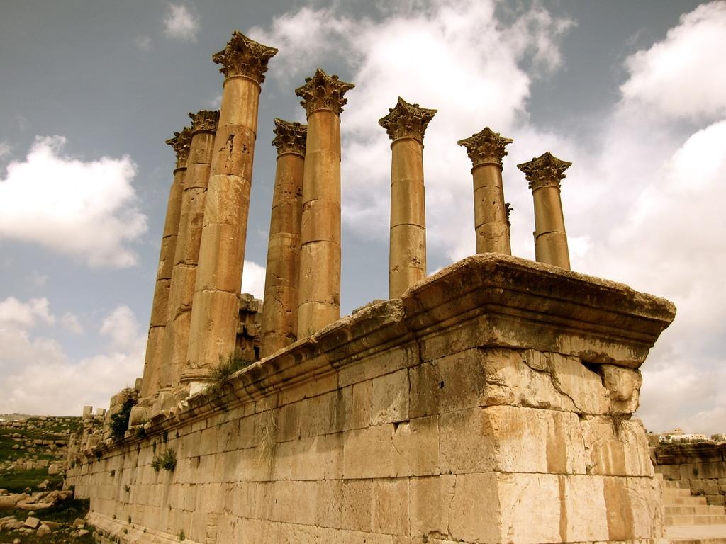 Tempel der Artemis Jerash Jordanien