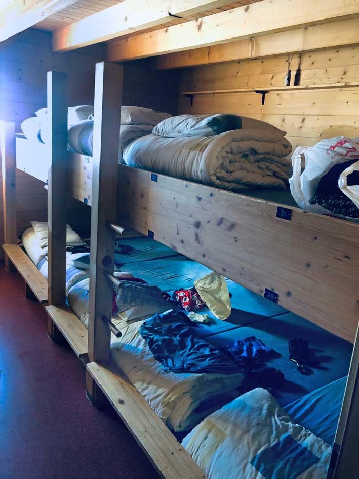Lager Vignettes Hütte