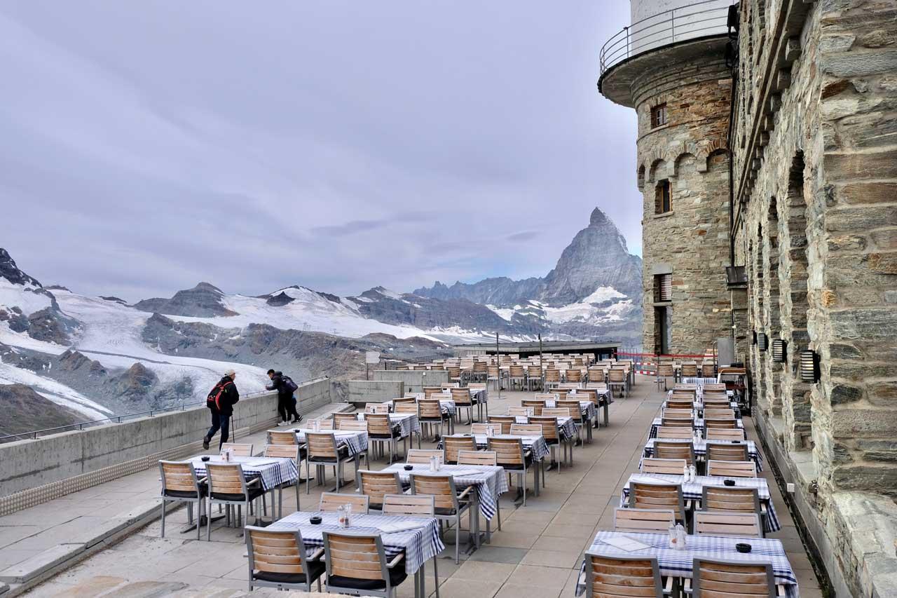 Terrasse Kulmhotel Zermatt