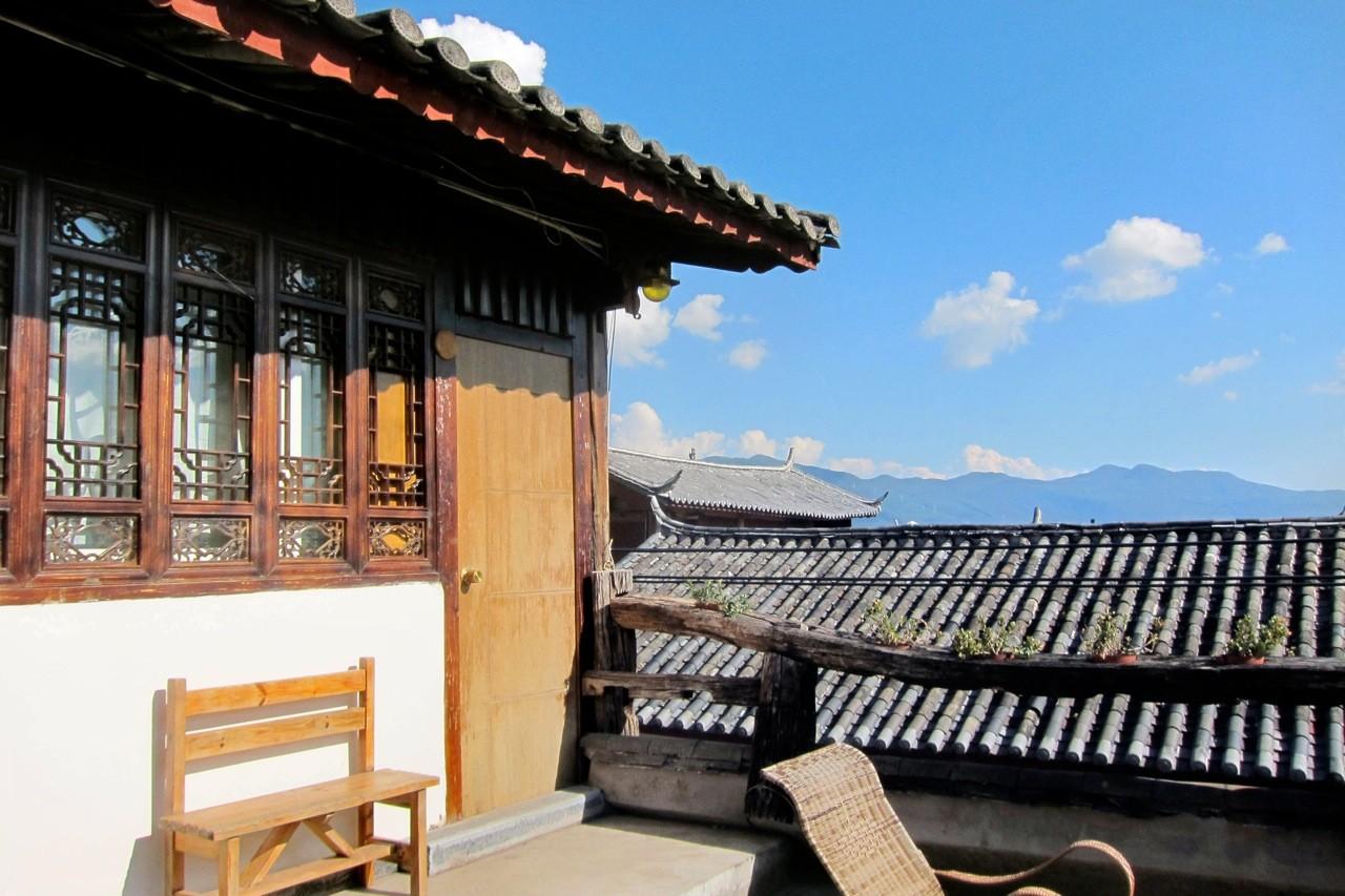 Timeless Hostel Zimmer auf der Dachterrasse, Lijiang