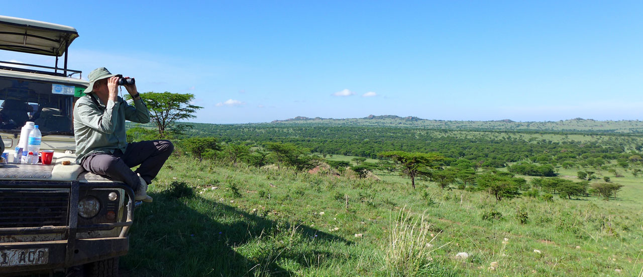 Kaffeepause mit Blick über die Nord Serengeti