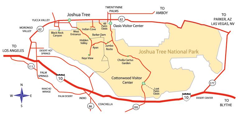 Karte Joshua Tree National Park