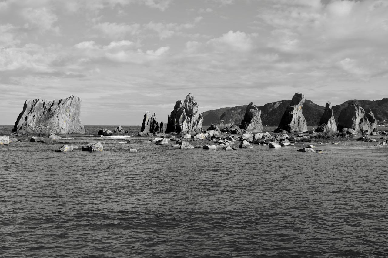 40 große Felssäulen der Hashi-gui-iwa Rocks