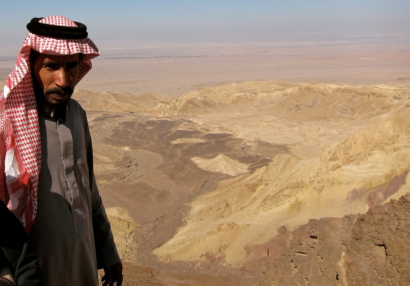 Fotostopp mit unserem Fahrer, Wadi Araba