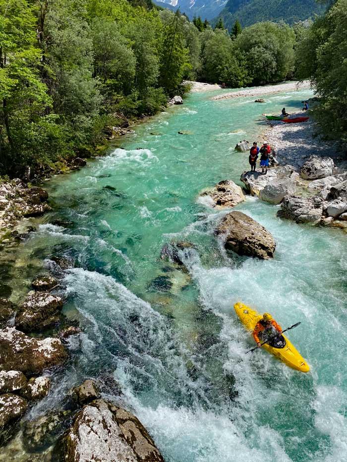Soca Wildwasser Kajak Slowenien